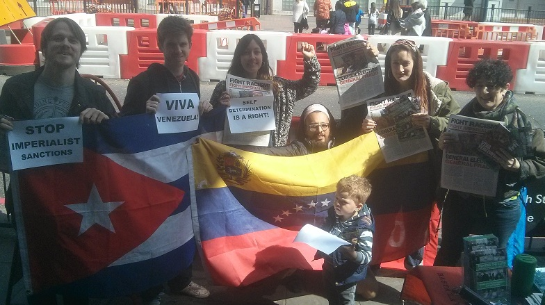 Lewisham anti cuts campaigners stand with Venezuela