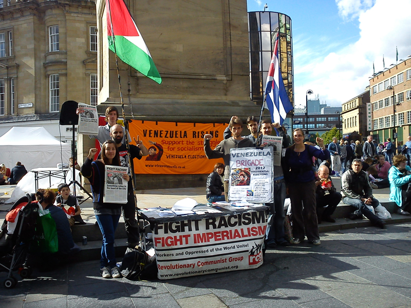 Solidarity from RCG campaigners in Newcastle