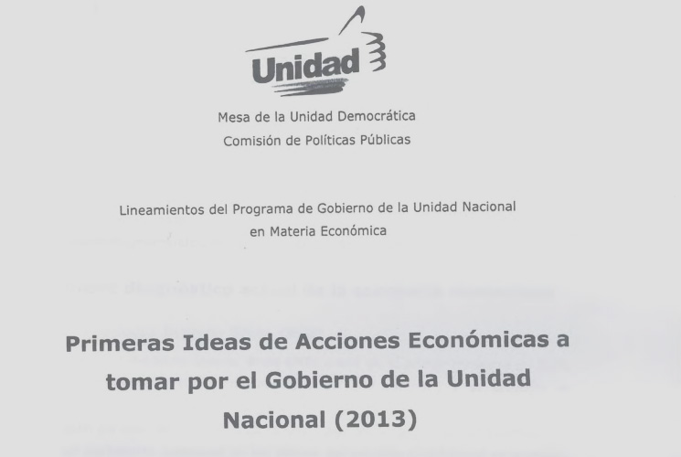 "Leaked document ""First Ideas of Economic Actions to Take by the National Unity Government (2013)"""