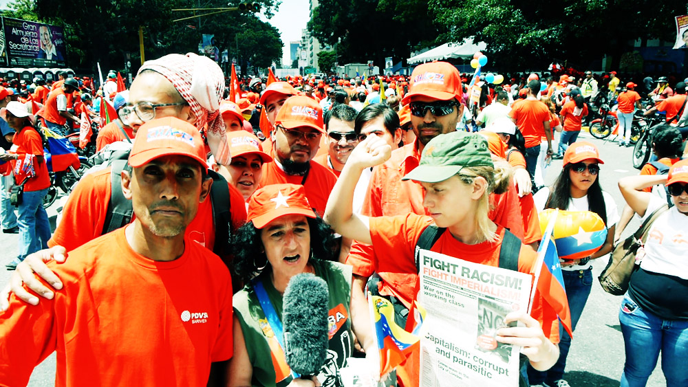 Closing campaign rally in Caracas