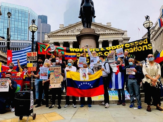 Protesting the theft of Venezuela's gold by the Bank of England