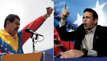 Maduro and Capriles in campaign for presidency