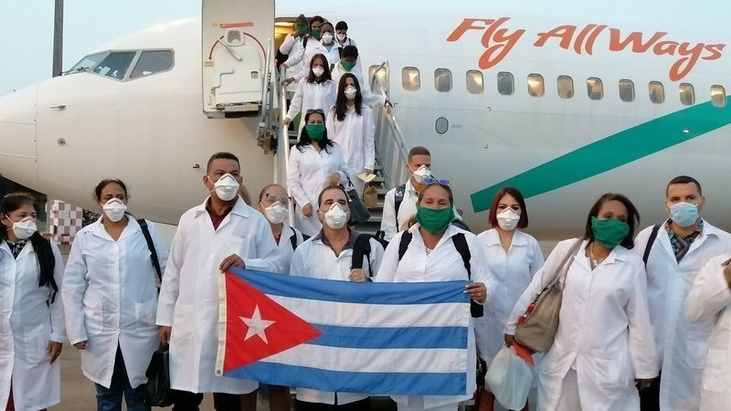 Cuba doctors brigade arrives in Italy
