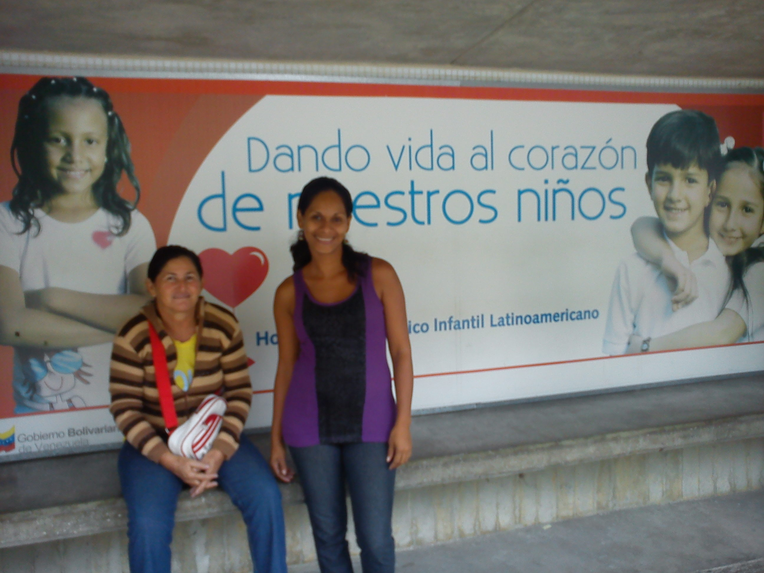 Ana Gomez, a mother whose daughter has undergone open heart surgery in the hospital