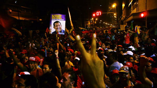 Chavez supporters 7 Oct 2012