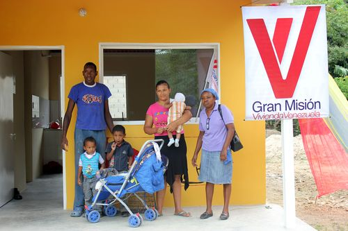 This family built their own house, with help from the community and resources from the government, under the Great Housing Mission Venezuela.