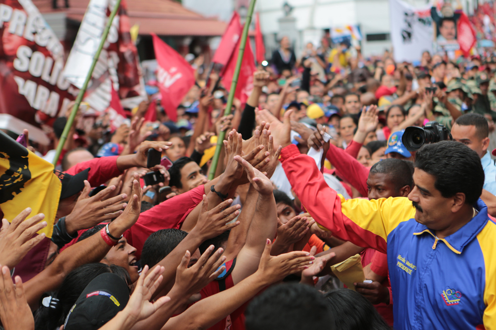 Maduro greets the crowd