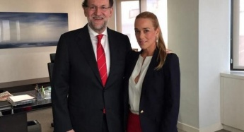 Rajoy meets with Lilian Tintori wife of Leopoldo Lopez