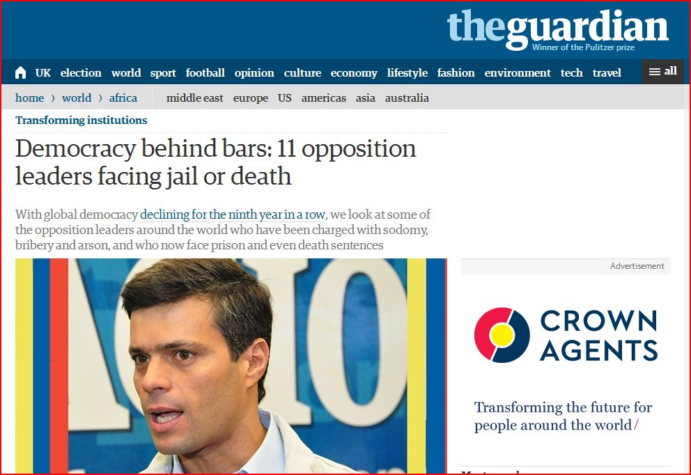 Yet another Guardian attack on Venezuela